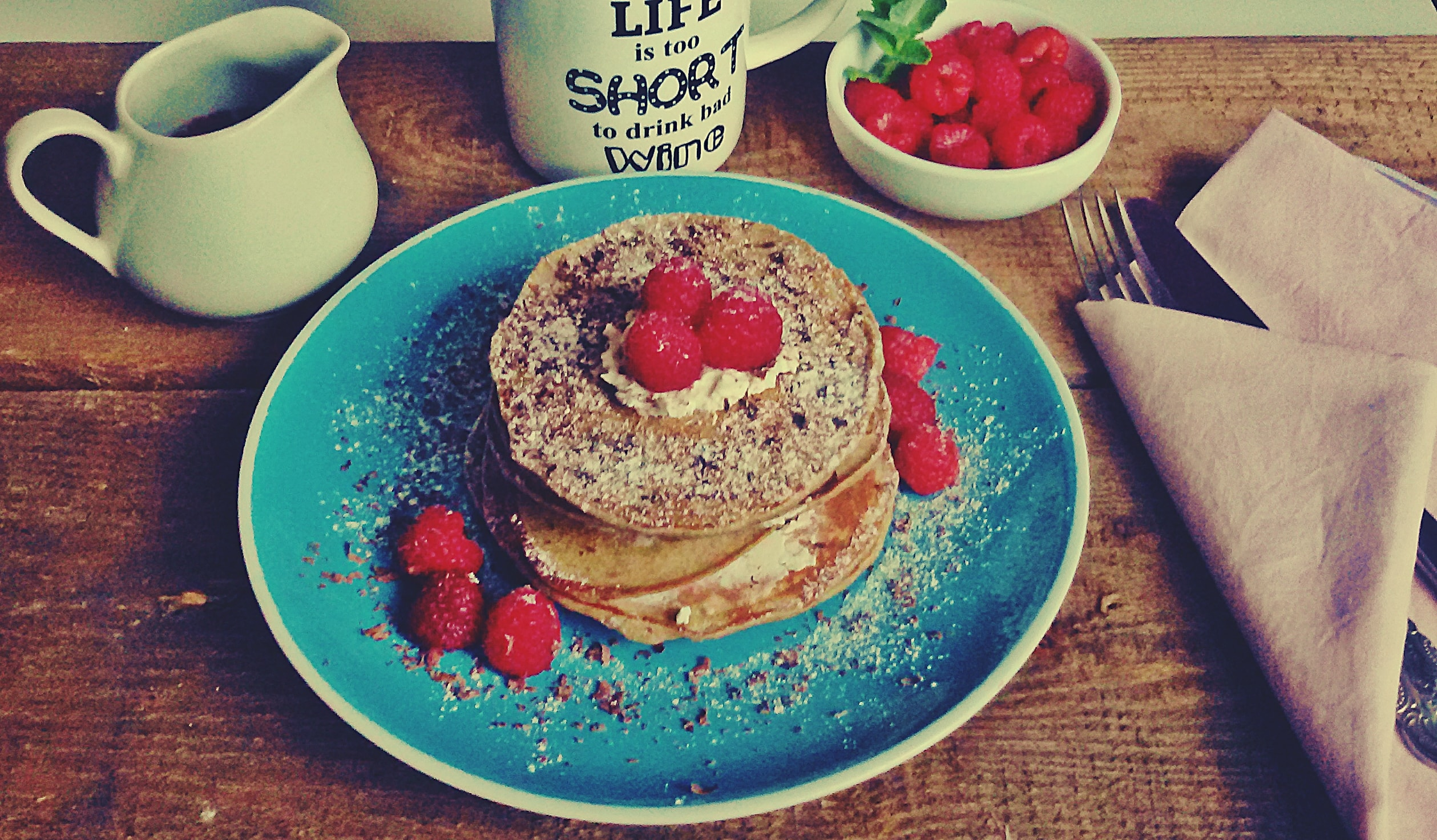 pancakes z malinami positiveat