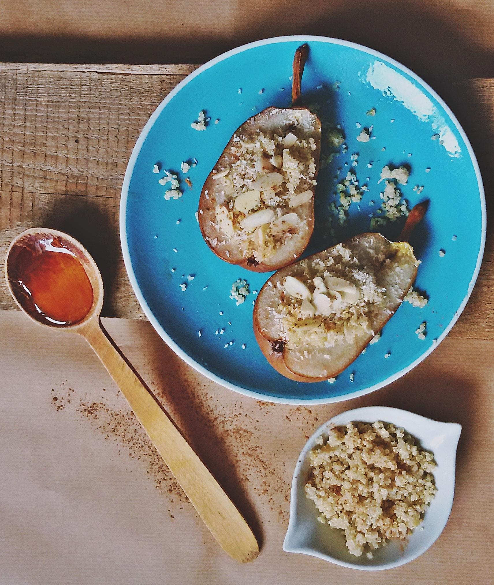 pieczona gruszka z kruszonką