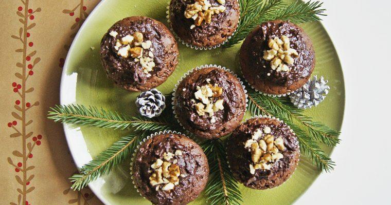 Piernikowe muffinki z czekośliwką