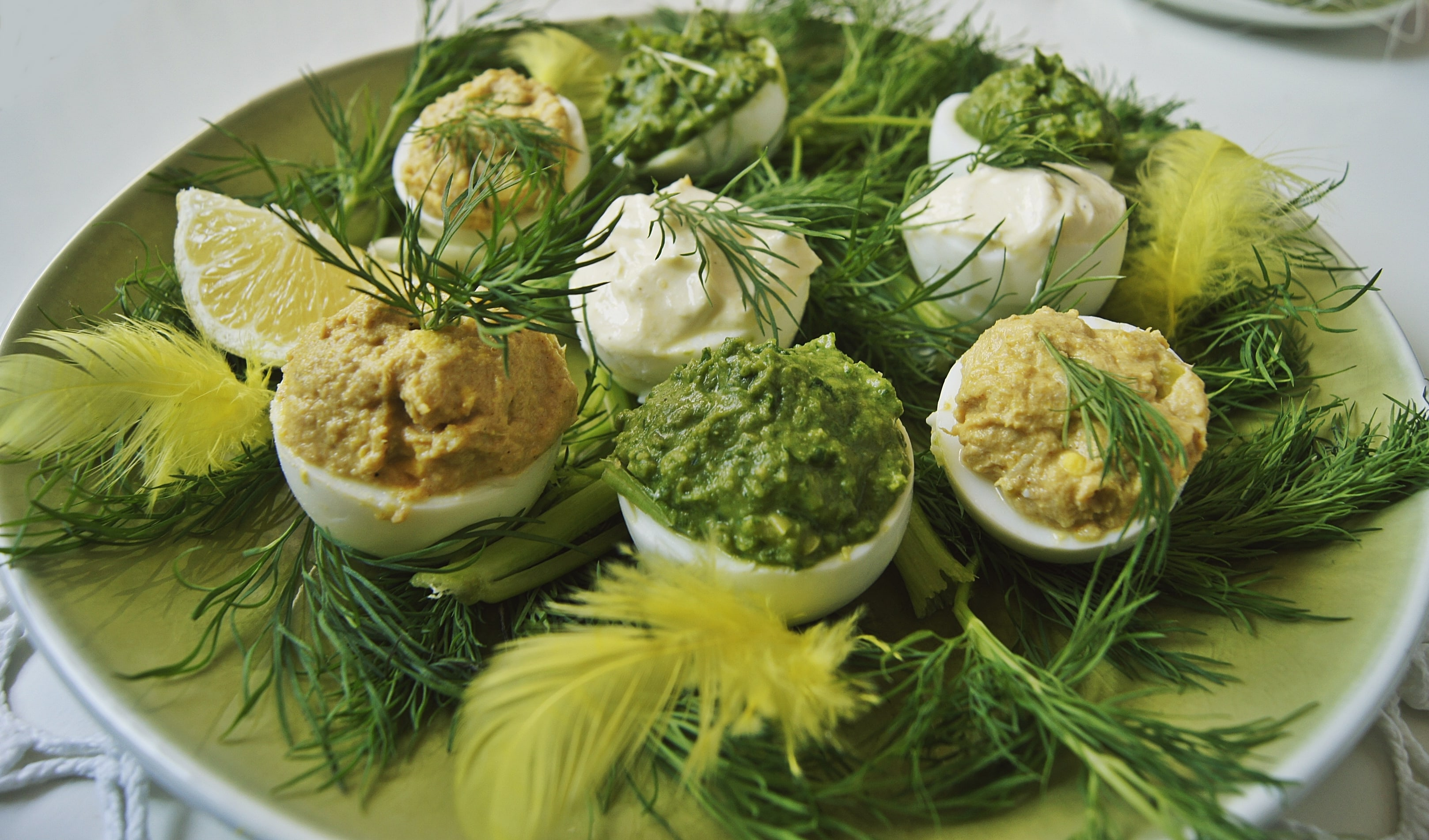 Jajka faszerowane z dietetycznym majonezem