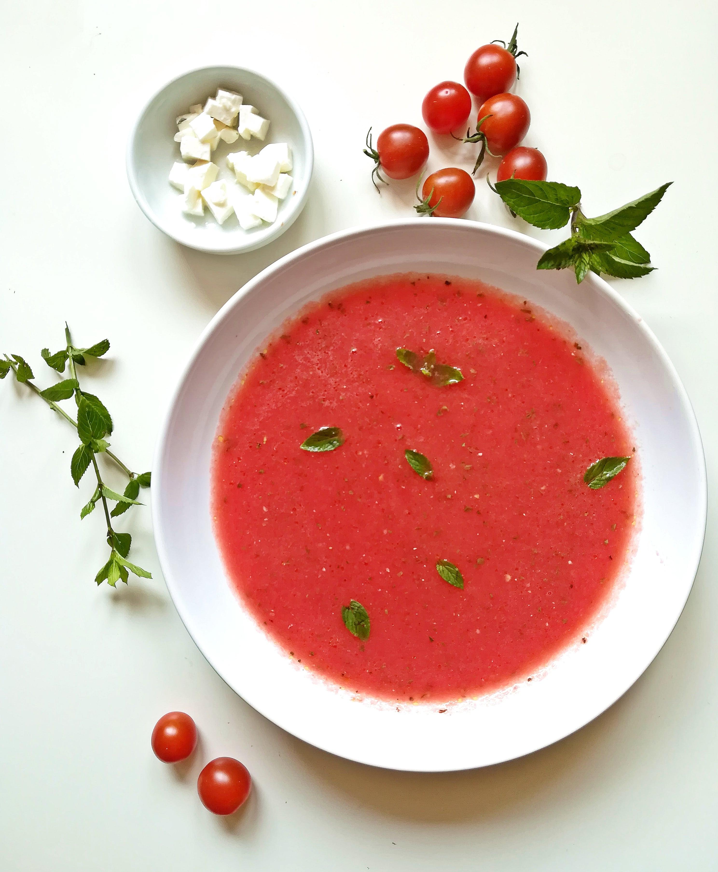 chlodnik arbuzowy z pomidorem