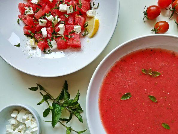 salatka z fetą i arbuzem