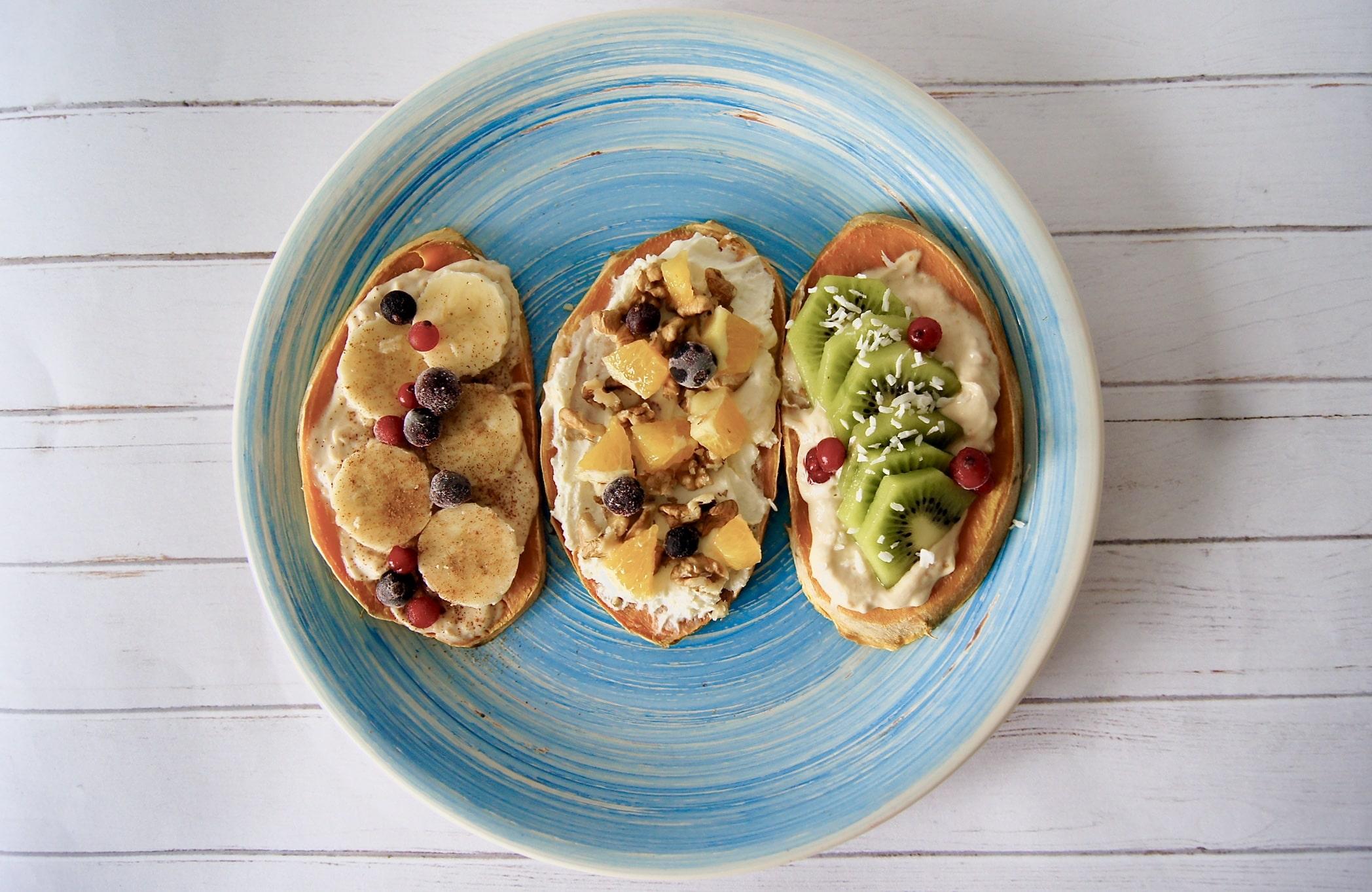 Słodkie tosty z batatów