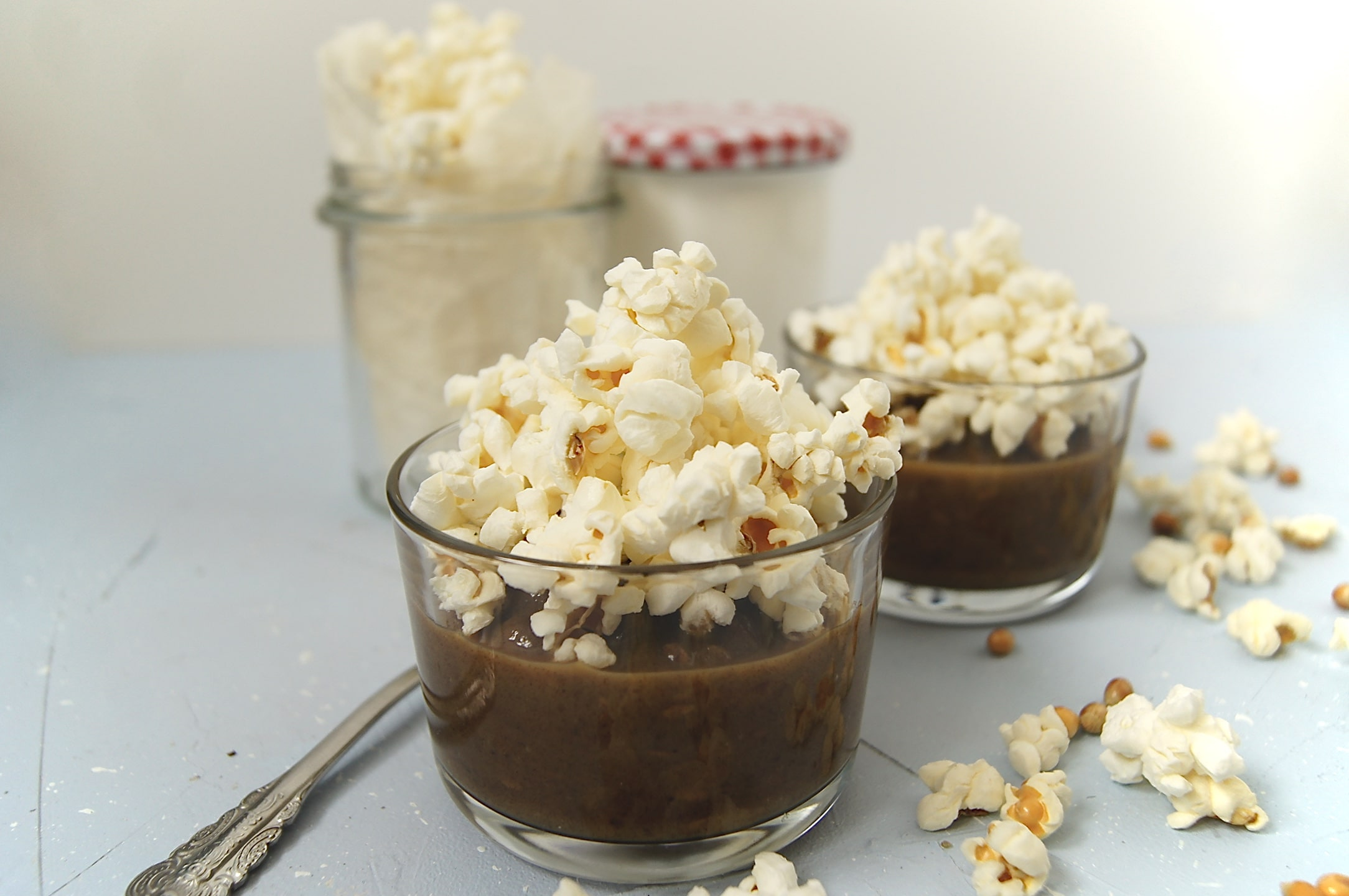 Karmelowy popcorn|bez cukru|wege