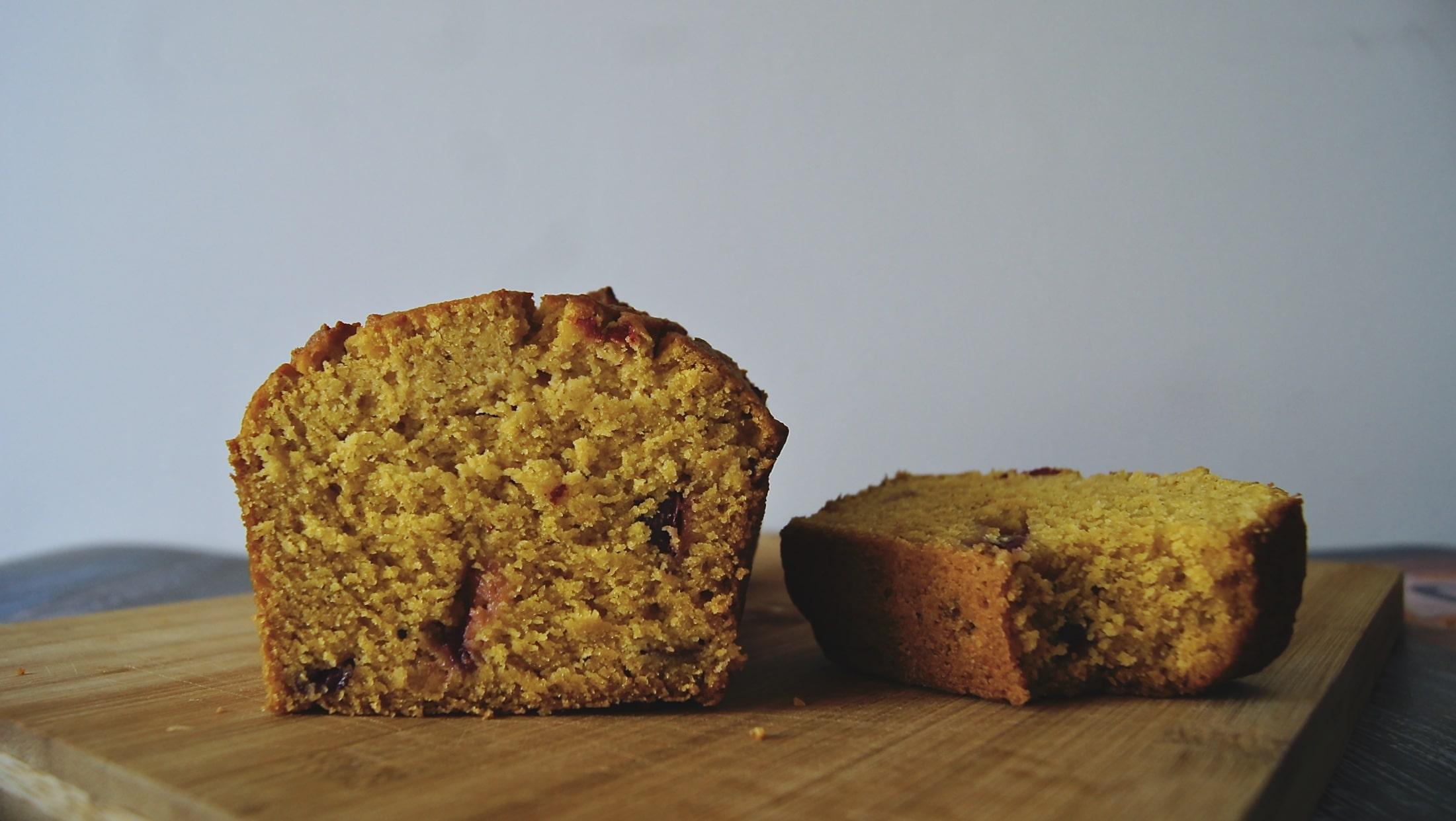 Ciasto z dyni z żurawiną | Bezglutenowe