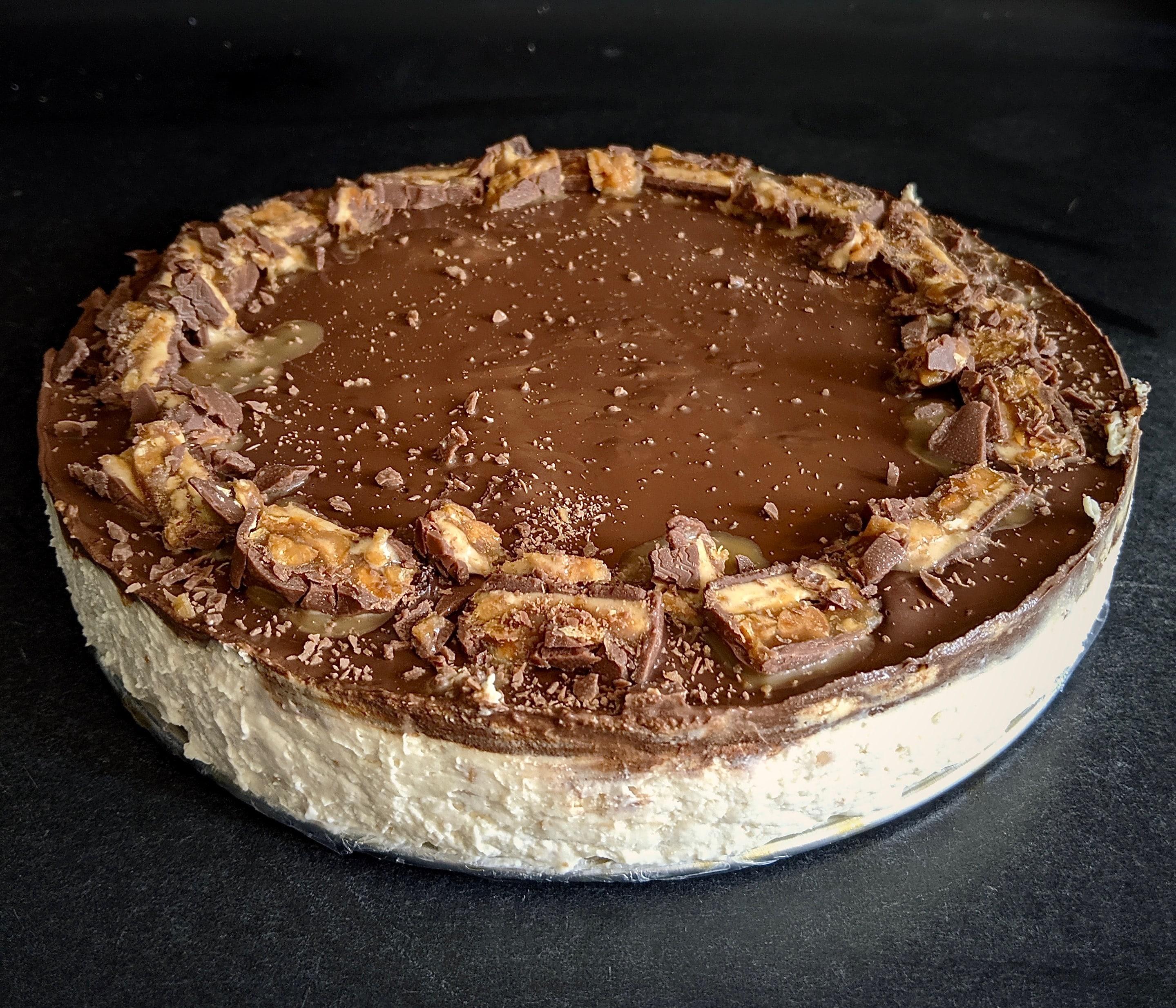 Sernik Snickers | bez cukru | fit przepis